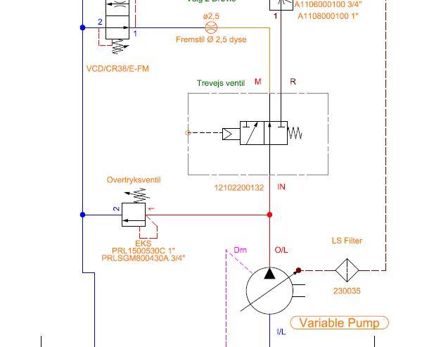 Udklip H L Hydraulic Schematic Diagram on